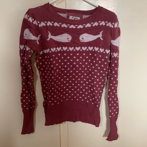 Forever 21 pink whale sweater